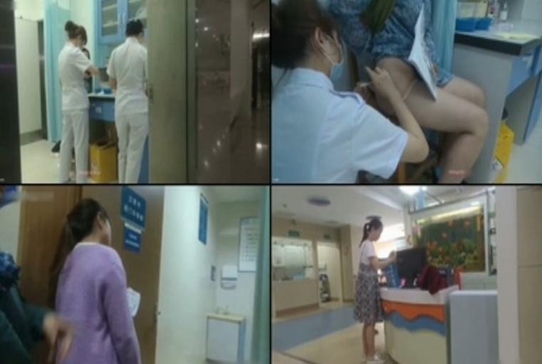 胆大包天妹子暗藏摄像机TP人来人往的医院女科室一波接一波的女人打屁股针