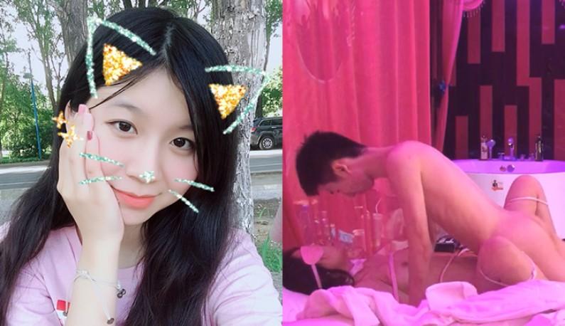 生日把抖M女友绑起来 狂抽猛送之余还拍照留念~真害羞?