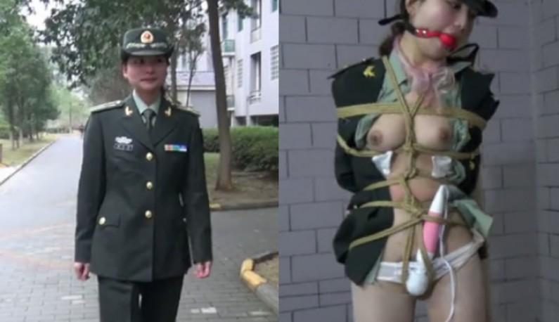 国模雨婷~军人的制服诱惑让歹徒有机可趁~在路边等雨停~綑绑假屌插逼