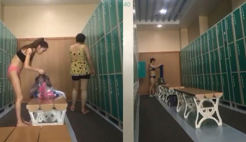 女主播潜入泳池更衣室~帮狼友谋福利!!今天好多妹子~看得好爽~