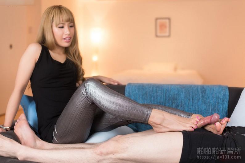 Silver Leggings Footjob