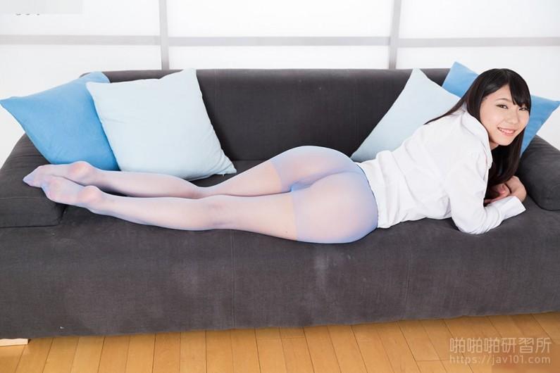Blue Nylon Footjob