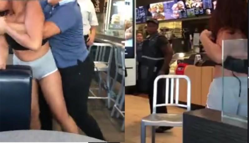 麦当劳女员工不爽被汙辱 把女客打到乳房乱晃