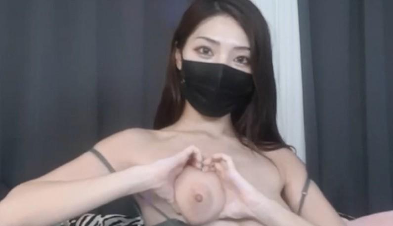 [韩国] 用美胸比个爱心的形状?高颜值主播跟着你一起浪~