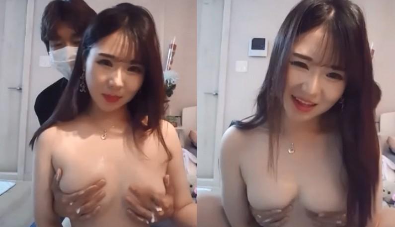 [韩国] 甜心巨乳妹~找了闺蜜上演空干戏码!!
