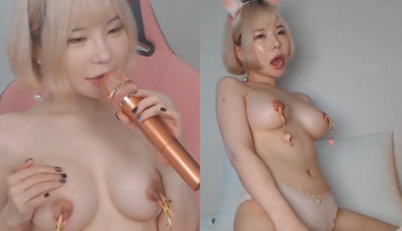 [韩国] 美声主播唱歌跳舞样样行,那性爱呢?直接用下体袭击娃娃给爹爹们鉴赏一下!!