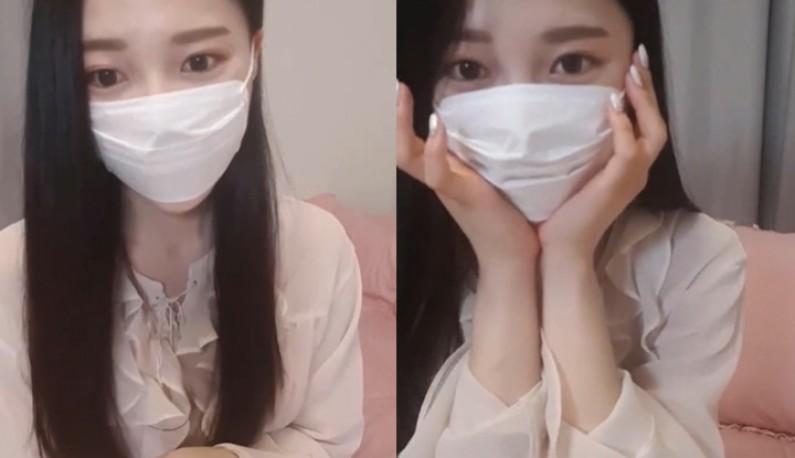 [韩国] 口罩主播揉奶爽一波~就算小小的也是有大大的力量~