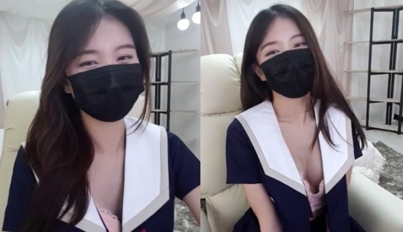 [韩国] 长髮主播脱衣诱惑~爹爹们硬了!!
