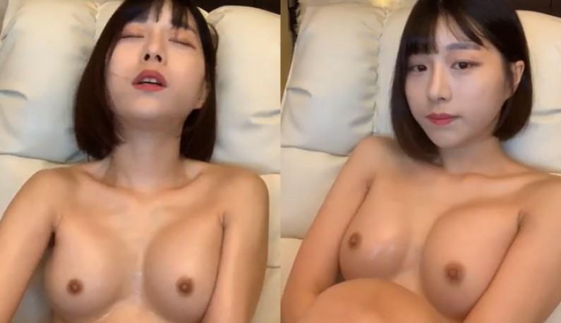 [韩国] 短发俏丽妹妹~自摸小穴啪啪啪~淫水交织的声音让爹爹都硬起来了!!