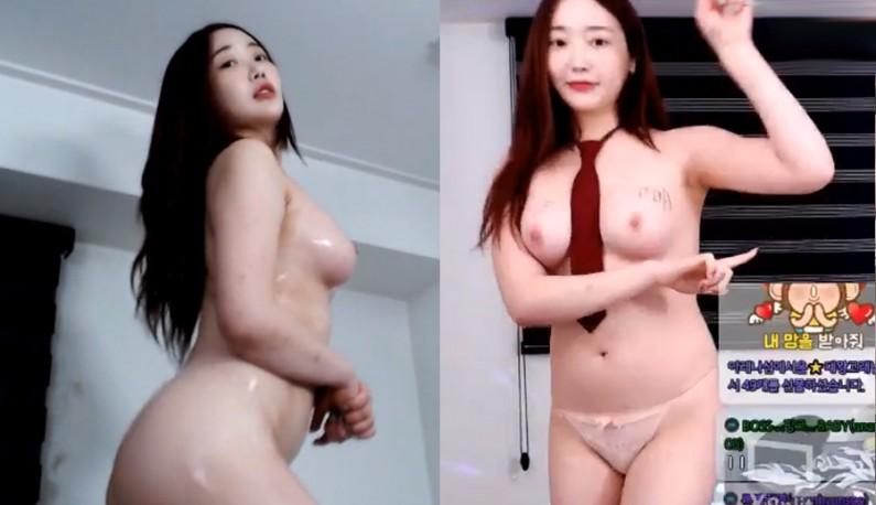 [韩国] 长髮主播随着节奏摇摆身体~抖动大奶~