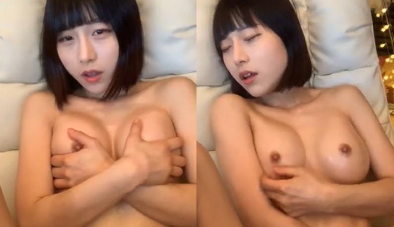 [韩国] 妹妹头下竟然有个曼妙好身材!!圆润大奶涂满润滑油!!