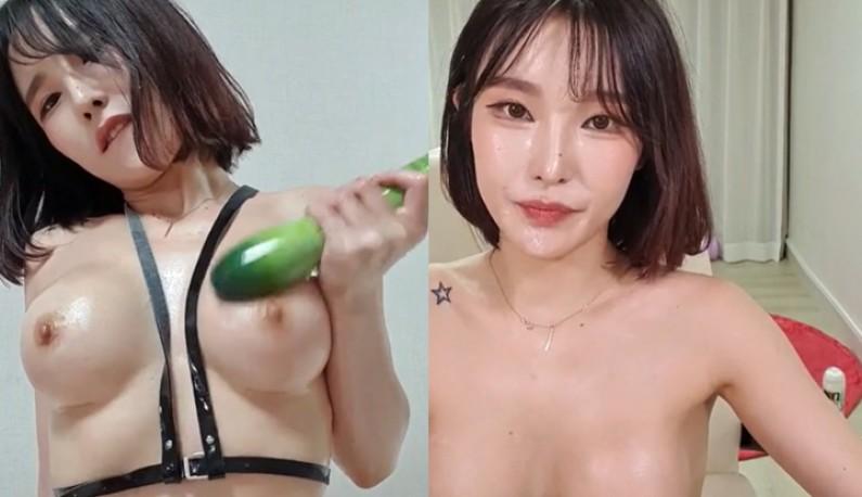 [韩国] 精緻主播不停拿棒状物撸奶~这样撸才会爽!!