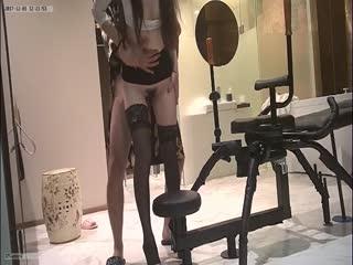 私人公寓网约大长腿高挑气质美女车模兼职外围女炮椅上激情大战太猛了椅子都操走了连干-1