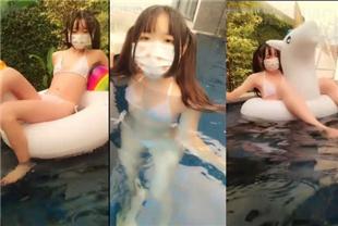 萌妹皮皮娘-泳池室外露出
