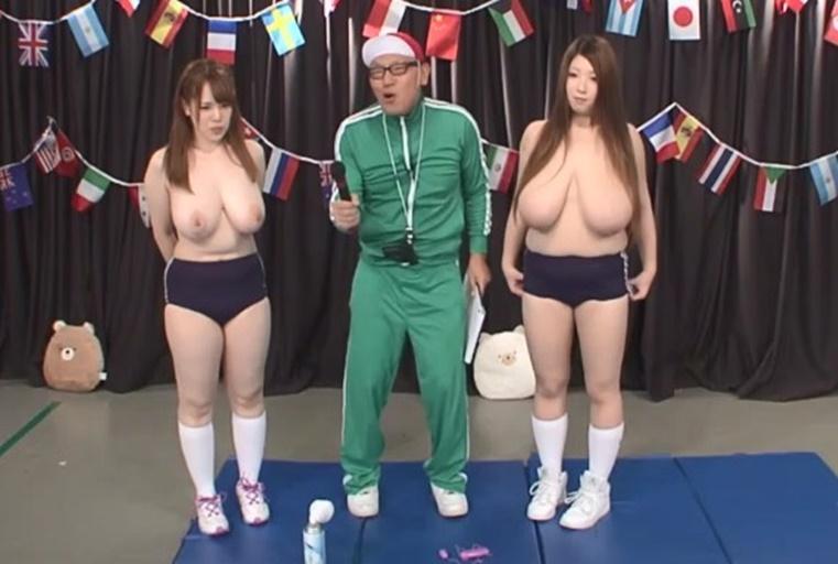 巨乳妹在运会动上,身穿运动裤晃着巨乳来比赛!