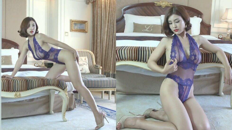 微博女神盼盼酒店私拍高贵紫色的诱惑