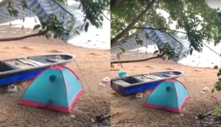 [香港] 海边搭帐棚打野炮被拍下传网~画面不透明但激干声可大了!