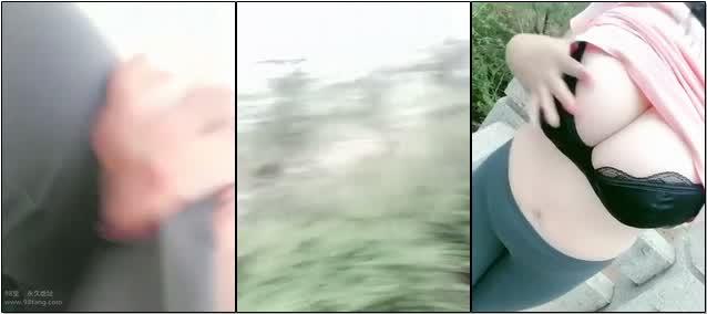 微博巨乳玩家SALLY白白球在公园露出自拍