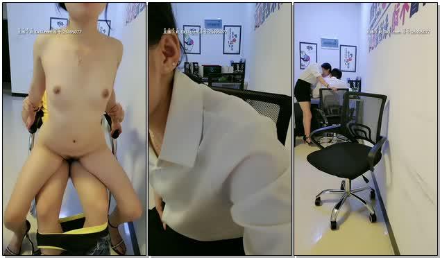 办公室制服小姐姐勾搭外卖小哥激烈啪啪寻刺激最后还被猥琐男同事骚扰猥亵