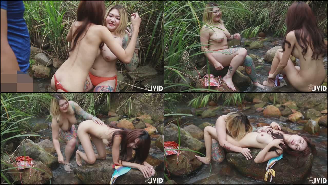 双女巨乳溪边戏水、痴汉入奸