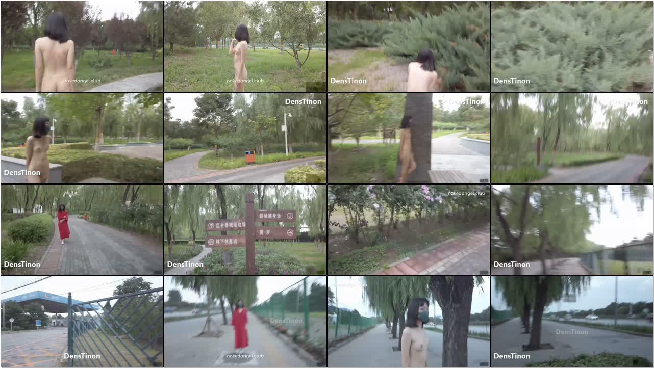 【北京天使】天使:Yuka 公园挑战极限大白天全裸露出