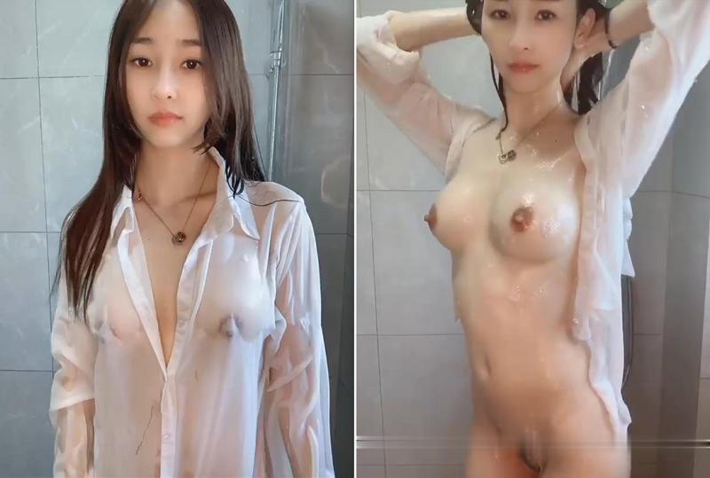 女神穿上男友衬衫直播洗澡诱惑